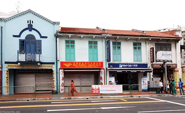 Singapore Little India old buildings
