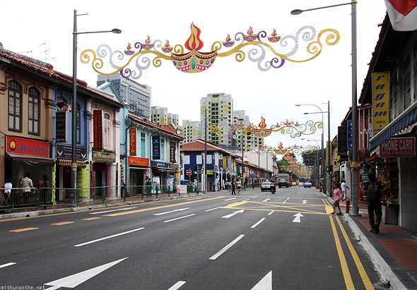 Singapore Little India road Deepawali decorations