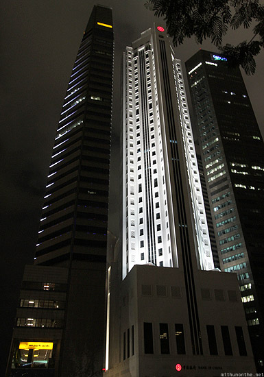 Singapore Marina financial district Maybank building