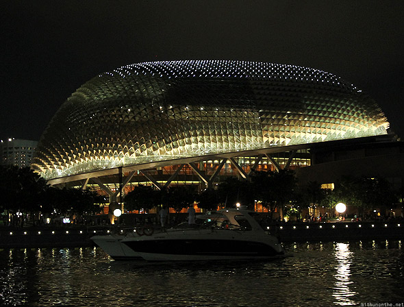 Singapore marina The Esplanade golden F1 night