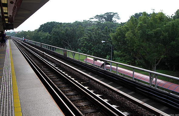 Singapore MRT metro train Tanah Merah station