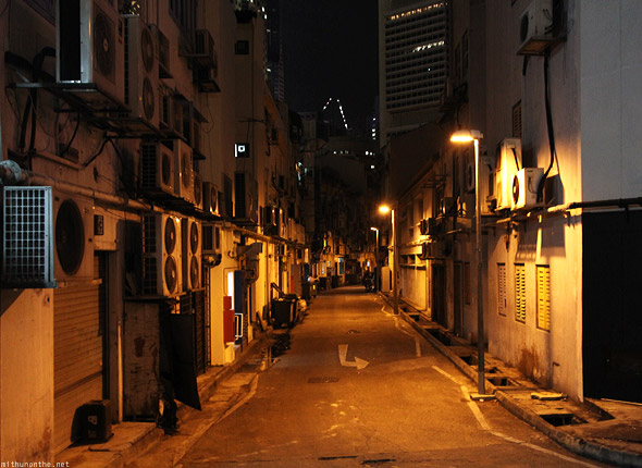 Singapore night alley