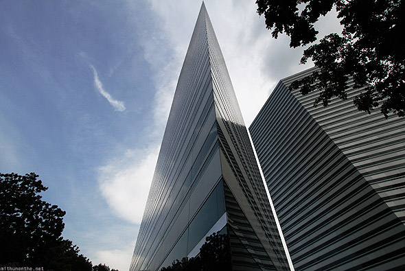 Singapore office building sharp angle