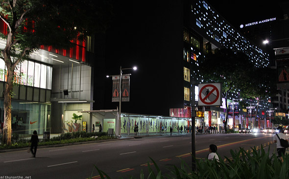 Singapore Orchard road crossing Meritus Mandarin hotel