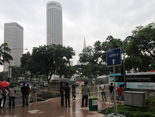 Singapore rainy F1 day gate 4