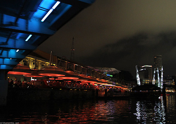 Singapore river cruise boat Clarke Quay