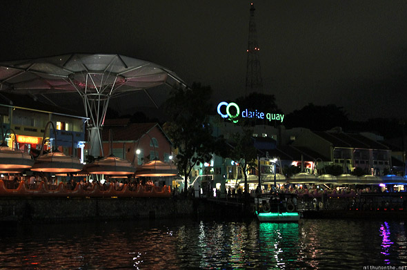 Singapore river cruise Clarke Quay main