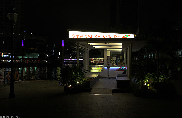 Singapore River cruise ticket counter Clarke Quay