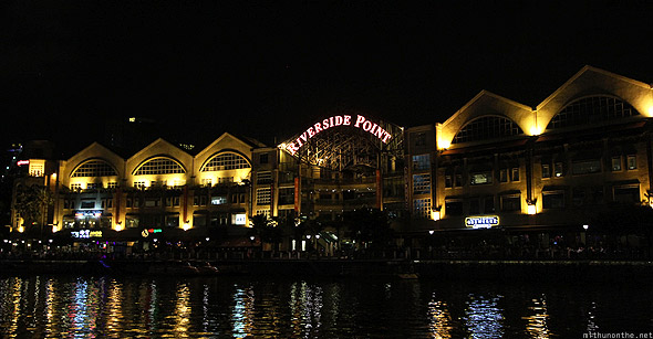 Singapore Riverside Point Clarke Quay at night