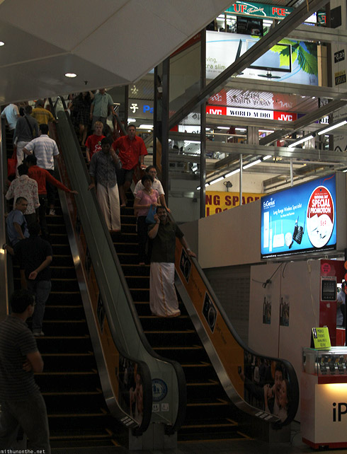 Singapore Sim Lim Square escalator Indian Keralite