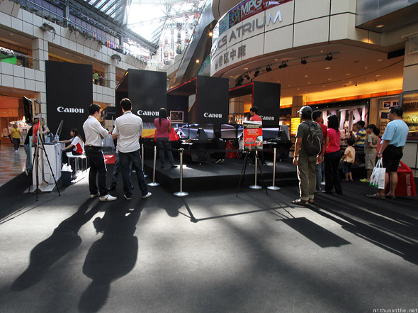 Singapore Suntec City Canon booth