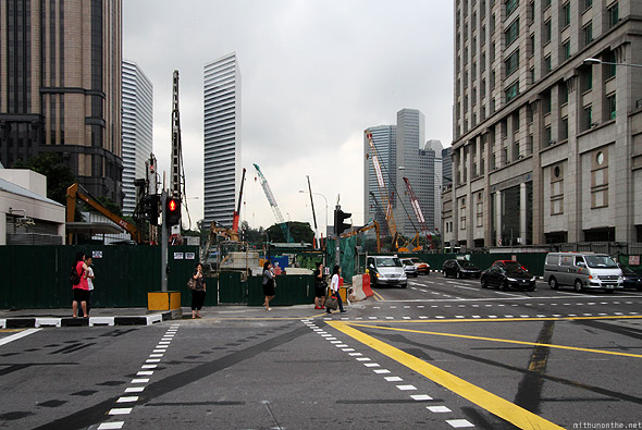 Singapore Victoria Street construction traffic crossing