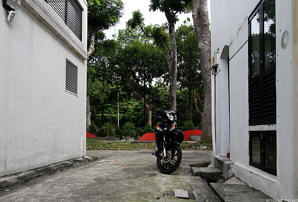 ABC Backpacker hostel moped Singapore alley