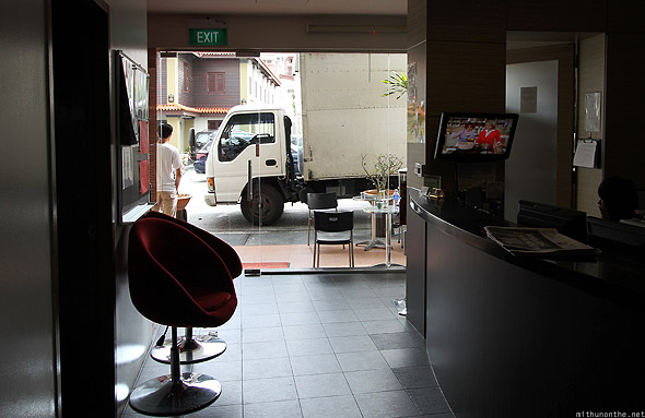 ABC Backpacker hostel reception free internet Singapore
