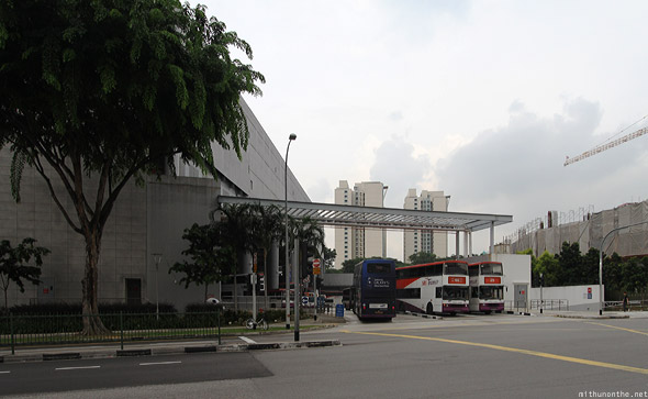 Ang Mo Kio bus interchange station opposite MRT Singapore