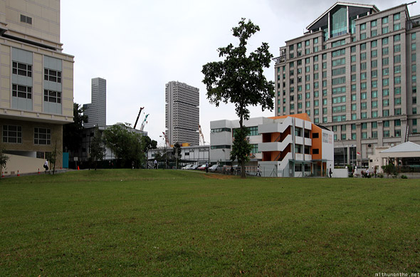 Raffles Hospital open field Victoria street junction