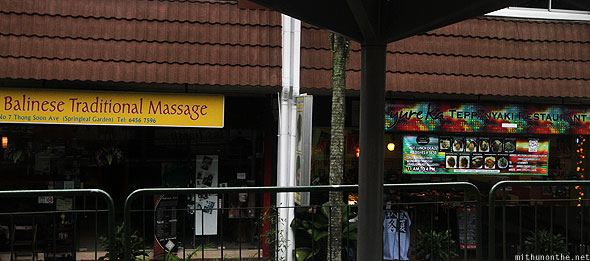 Singapore Ang Mo Kio Balinese massage Japanese restaurant