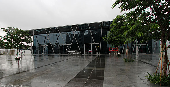 Singapore Marina Bay City Gallery rainy day