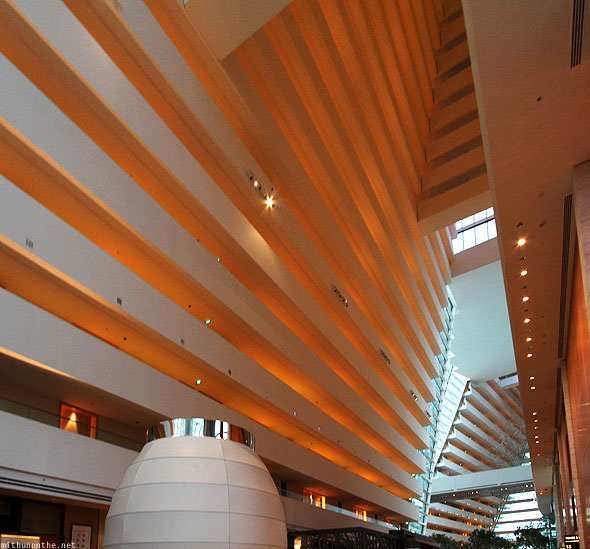 Singapore Marina Bay Sands hotel inside lobby architecture design