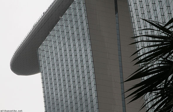 Singapore Marina Bay Sands Sky Park rainy day