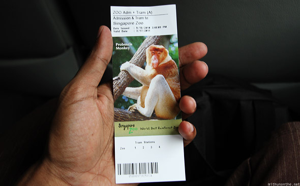 Singapore Zoo entry ticket special