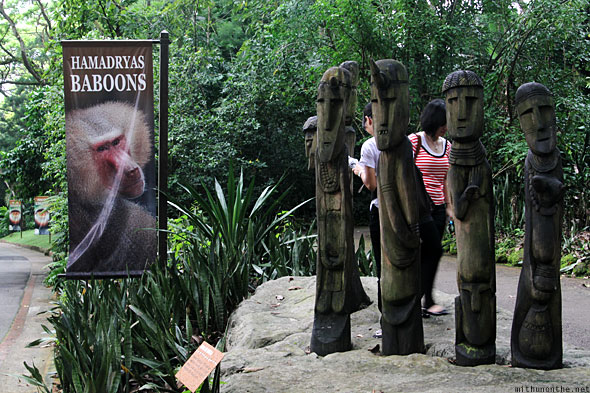 Singapore Zoo Hamadryas baboons entrance