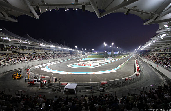 Abu Dhabi F1 Yas Marina circuit at night