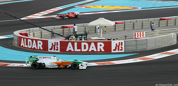 Abu Dhabi F1 Yas Marina circuit Force India car