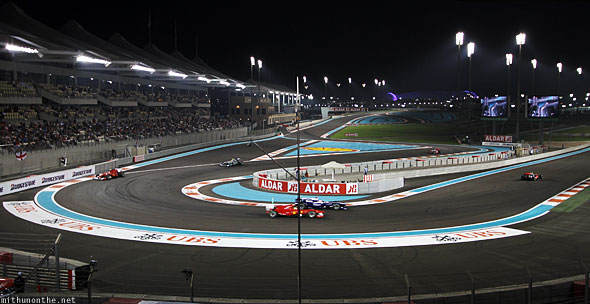 Abu Dhabi F1 Yas Marina circuit night race