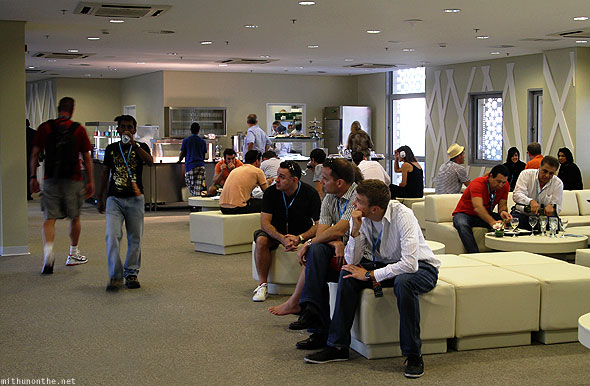 Abu Dhabi F1 Yas Marina circuit North Grand stand lounge