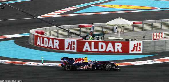 Abu Dhabi F1 Yas Marina circuit Red Bull car