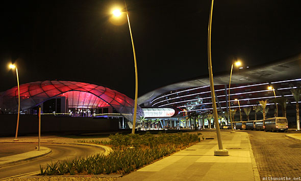 Abu Dhabi Formula 1 Ferrari world at night