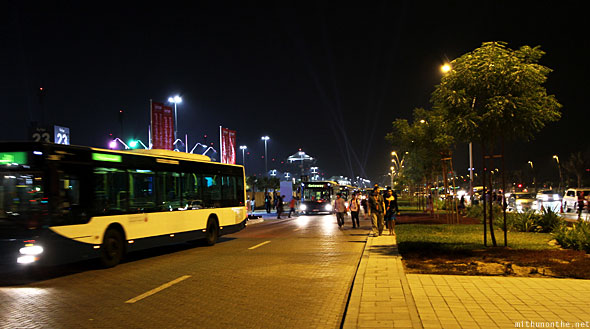 Abu Dhabi Formula one buses after race