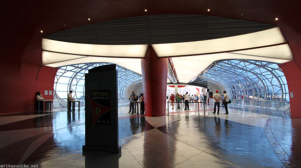 Ferrari World Abu Dhabi entrance hall