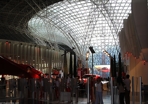 Ferrari World Abu Dhabi gates to theme park