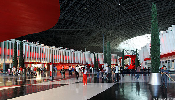 Ferrari World Abu Dhabi main lobby
