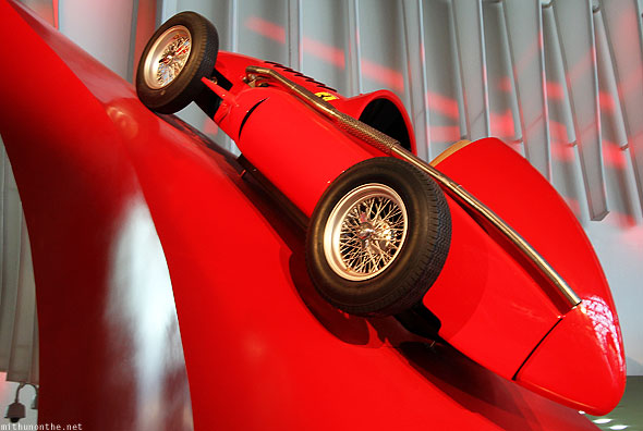 Ferrari World Abu Dhabi old Ferrari grand prix racing car