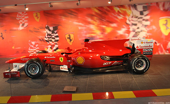 Ferrari World Abu Dhabi Formula 1 model car