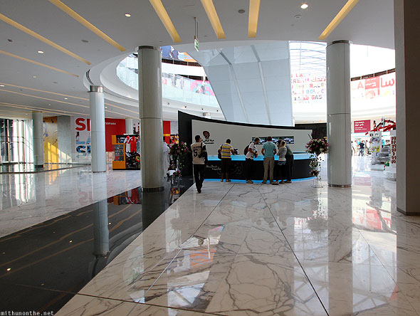 Ferrari World mall entrance reception