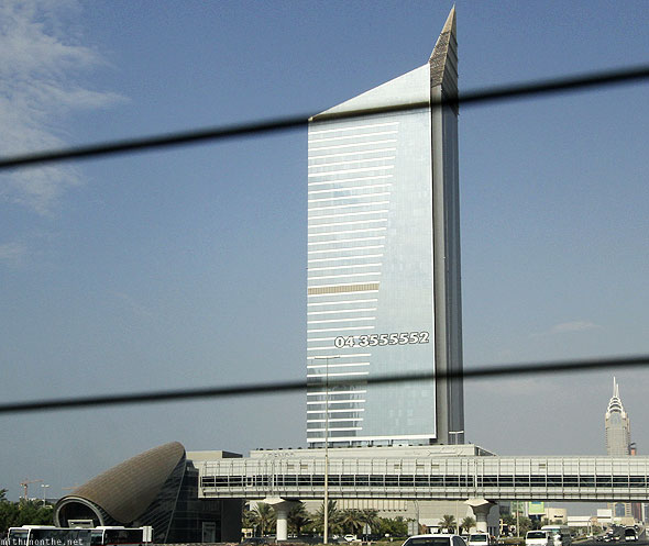 Sheikh Zayed road empty building
