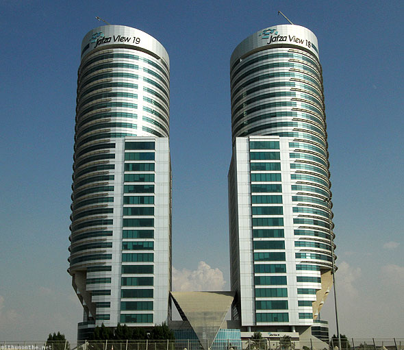 Sheikh Zayed road Jebel Ali offices Jafza view 19 twin towers