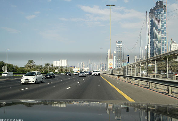 Sheikh Zayed Road leaving Dubai