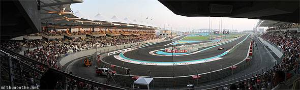 Yas Marina Circuit North Stand panorama view