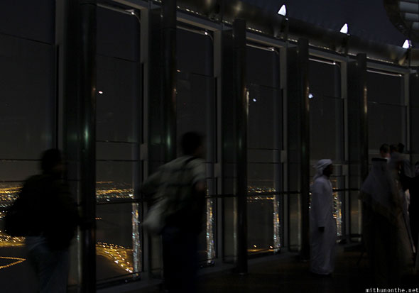 Burj Khalifa At The Top observation deck at night