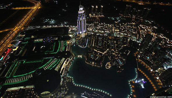 Burj Khalifa At The Top view at night Dubai