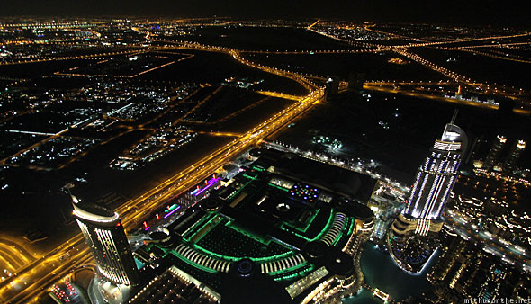 Burj Khalifa At The Top view highways