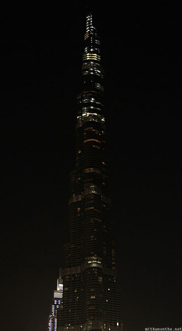 Burj Khalifa in the dark Dubai