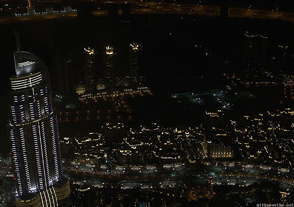 Downtown Dubai The Address residences at night