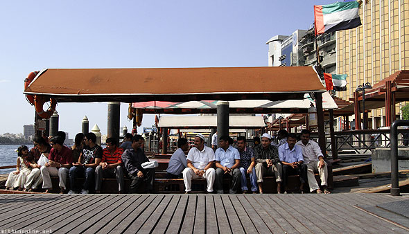 Dubai creek abra boat passengers afternoon ride