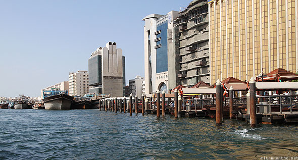 Dubai creek abra station Deira afternoon ride